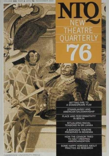 New Theatre Quarterly 76: Volume 19, Part 4