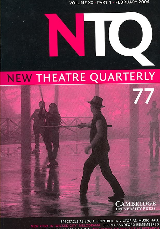 New Theatre Quarterly 77: Volume 20, Part 1