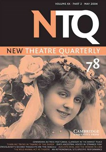 New Theatre Quarterly 78: Volume 20, Part 2 by Simon Trussler, Clive Barker, Maria Shevtsova, Clive Barker, Simon Trussler (9780521603270) - PaperBack - Poetry & Drama