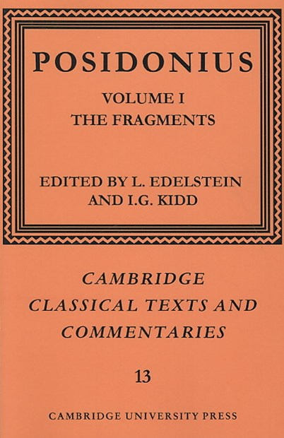 Posidonius: Volume 1, The Fragments