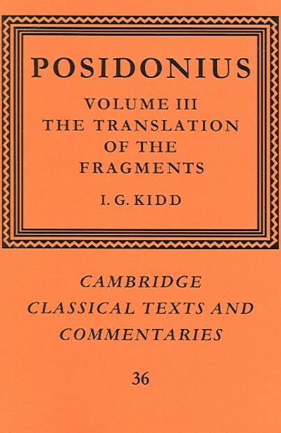 Posidonius: Volume 3, The Translation of the Fragments