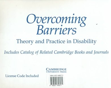 Overcoming Barriers: Theory and Practice in Disability CD-ROM full text - Reference Medicine