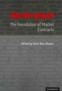 Boilerplate by Omri Ben-Shahar (9780521676380) - PaperBack - Reference Law