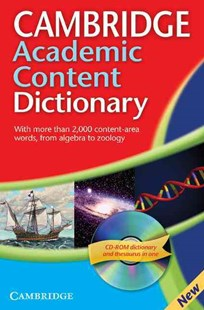 Cambridge Academic Content Dictionary Reference Book with CD-ROM by  (9780521691963) - Multiple-item retail product - Education IELT & ESL