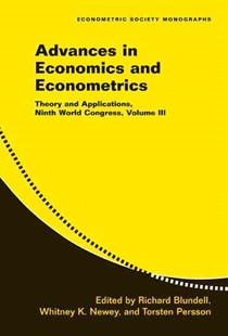 Advances in Economics and Econometrics: Volume 3 by Richard Blundell, Whitney Newey, Torsten Persson (9780521692106) - PaperBack - Business & Finance Ecommerce