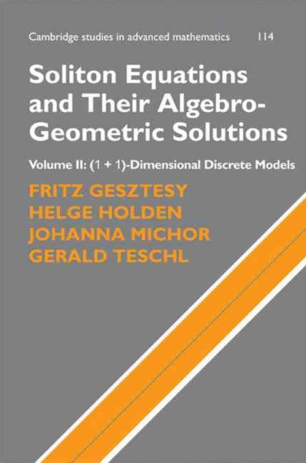Soliton Equations and Their Algebro-Geometric Solutions: Volume 2, (1+1)-Dimensional Discrete Models