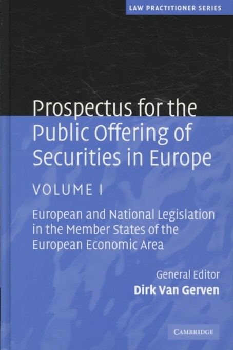 Prospectus for the Public Offering of Securities in Europe 2 Volume Hardback Set: Volume