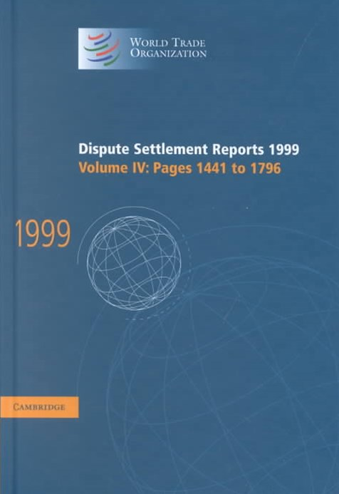 Dispute Settlement Reports 1999: Volume 4, Pages 1441-1796