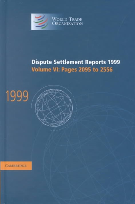Dispute Settlement Reports 1999: Volume 6, Pages 2095-2556