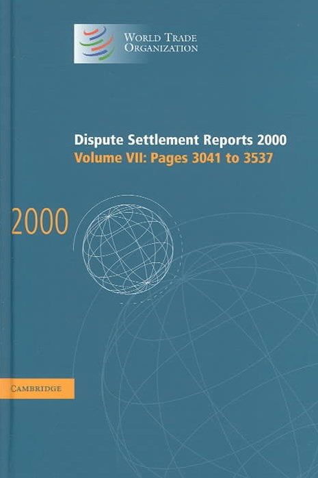 Dispute Settlement Reports 2000: Volume 7, Pages 3041-3537