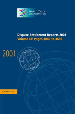 Dispute Settlement Reports 2001: Volume 9, Pages 4049-4693