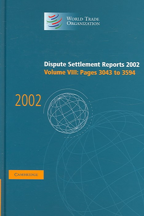 Dispute Settlement Reports 2002: Volume 8, Pages 3043-3594