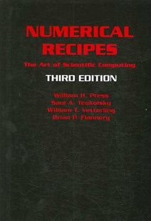 Numerical Recipes 3rd Edition by William H. Press, Saul A. Teukolsky, William T. Vetterling, Brian P. Flannery (9780521880688) - HardCover - Computing Programming