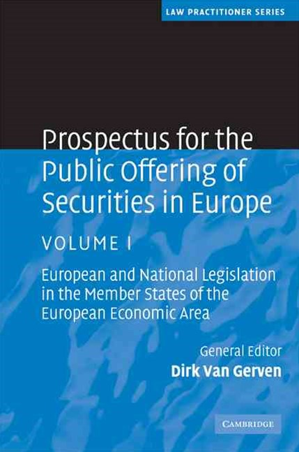 Prospectus for the Public Offering of Securities in Europe