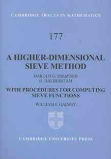A Higher-Dimensional Sieve Method by Harold G. Diamond, H. Halberstam, William F. Galway (9780521894876) - HardCover - Science & Technology Mathematics
