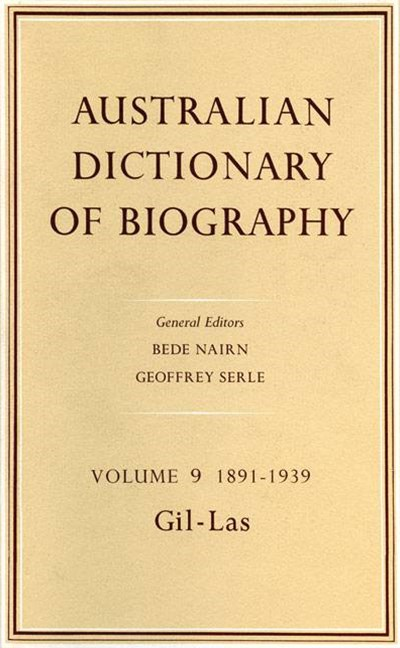 Australian Dictionary of Biography V9