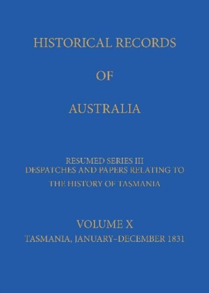 Historical Records of Australia Series III Volume X