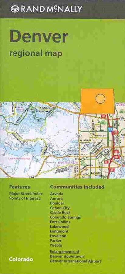 Rand McNally Denver Colorado Regional Map