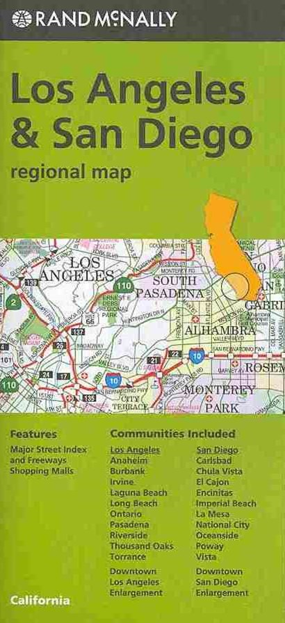 Rand McNally Los Angeles & San Diego Regional Map