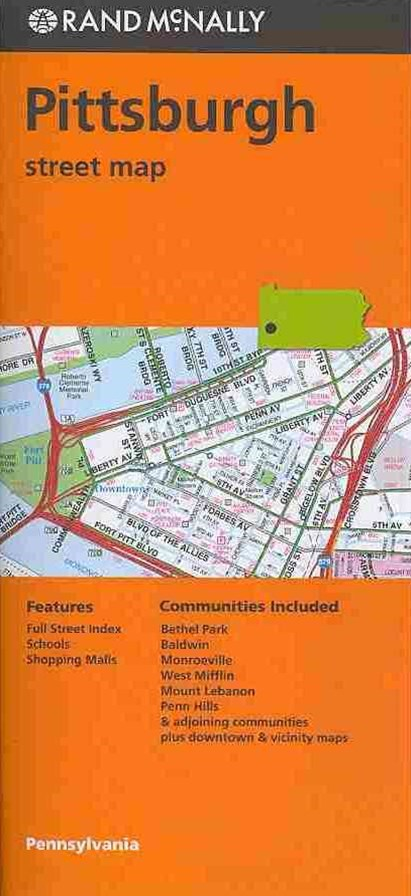 Rand Mcnally Pittsburgh Street Map