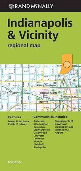 Rand Mcnally Indianapolis & Vicinity Regional Map