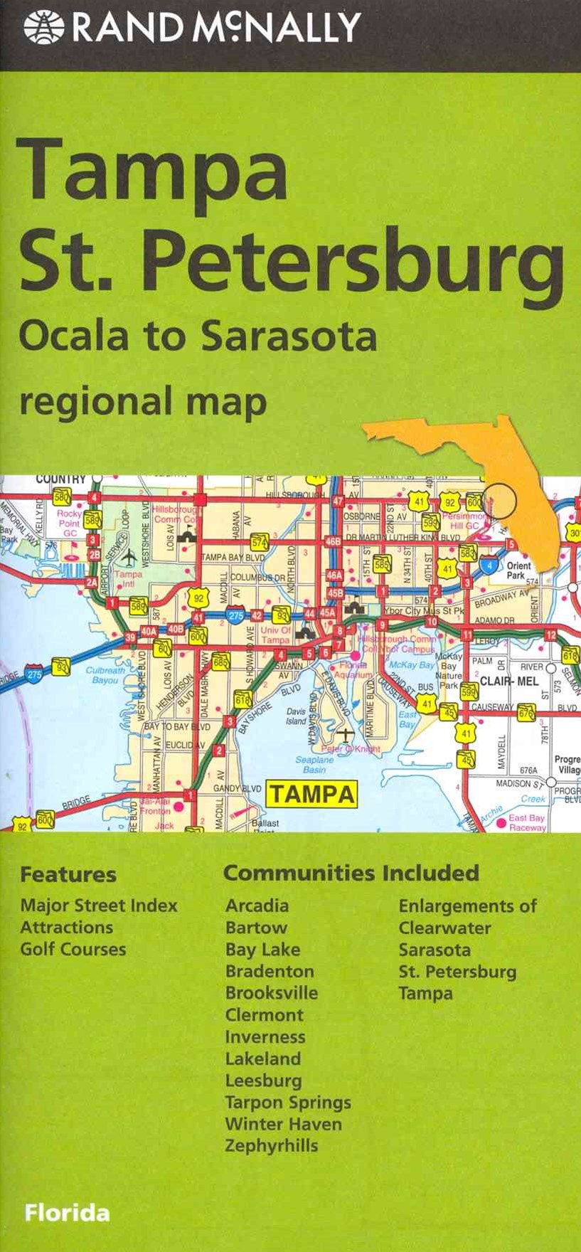 Rand McNally Tampa/St. Petersburg Regional Map