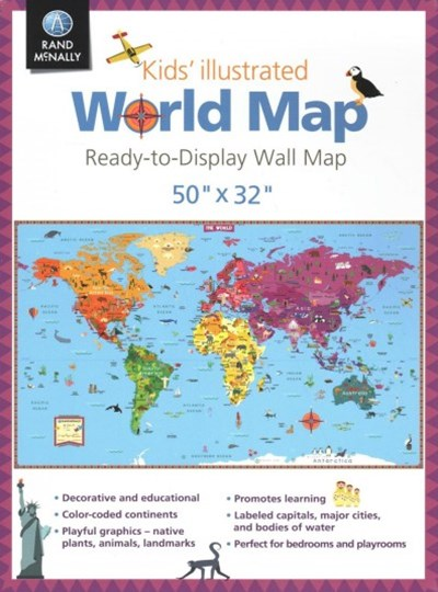 Kids' Illustrated World Map