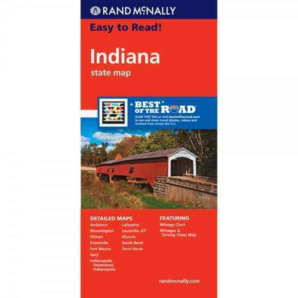 Rand Mcnally Easy to Read Indiana