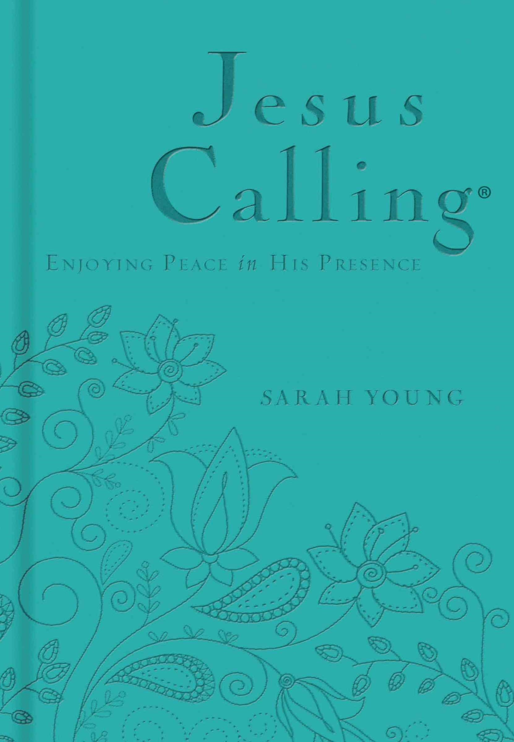 Jesus Calling: Deluxe Edition Teal Cover