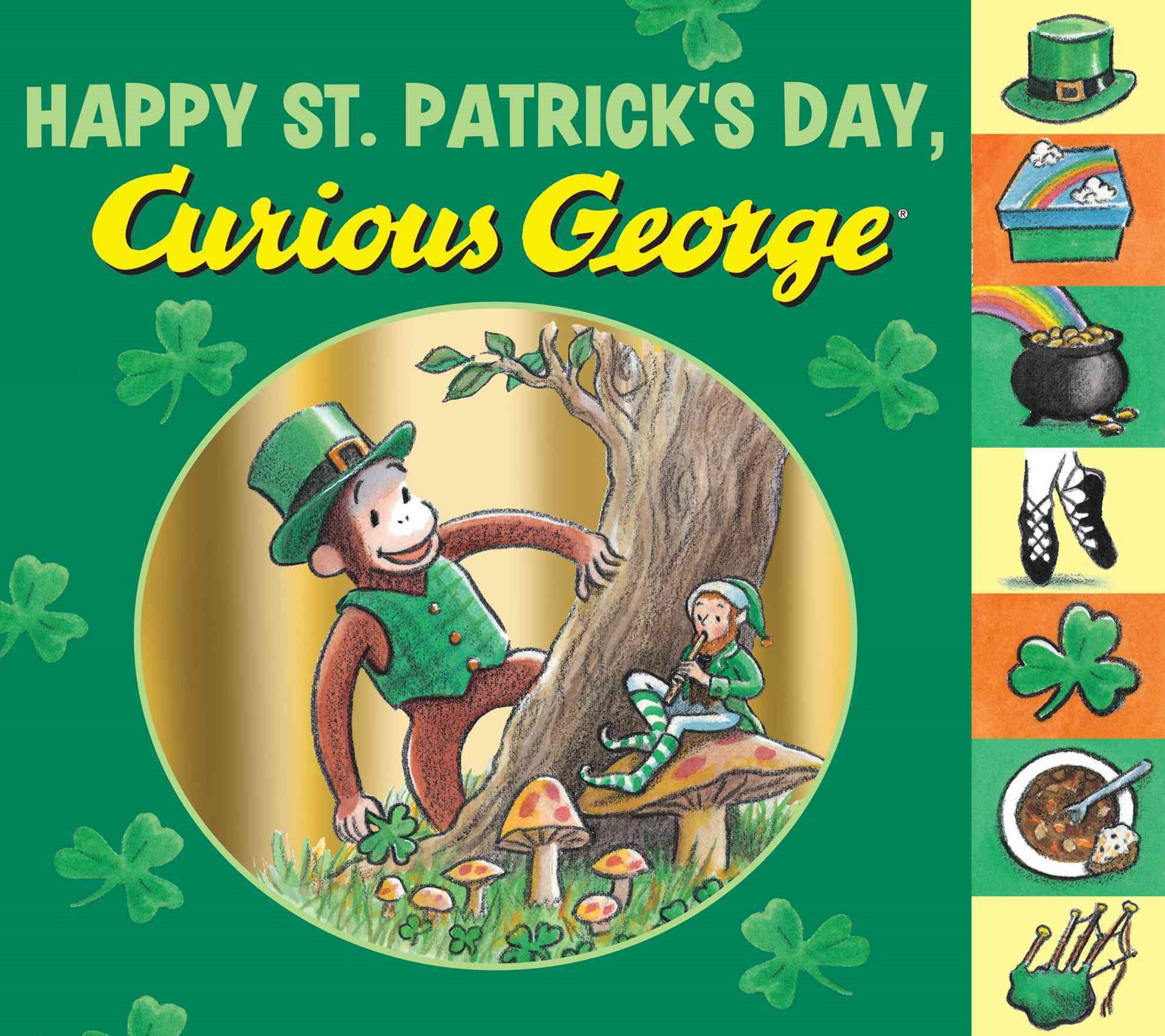 Happy St. Patrick's Day, Curious George: Tabbed Board Book