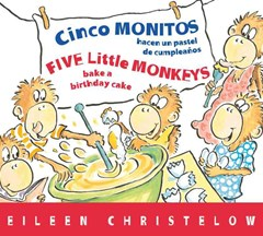 Five Little Monkeys Bake a Birthday Cake (Spanish/English)