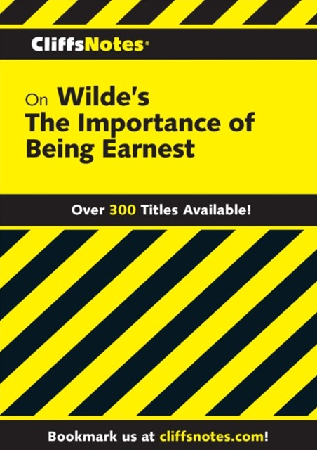 (ebook) CliffsNotes on Wilde's The Importance of Being Earnest