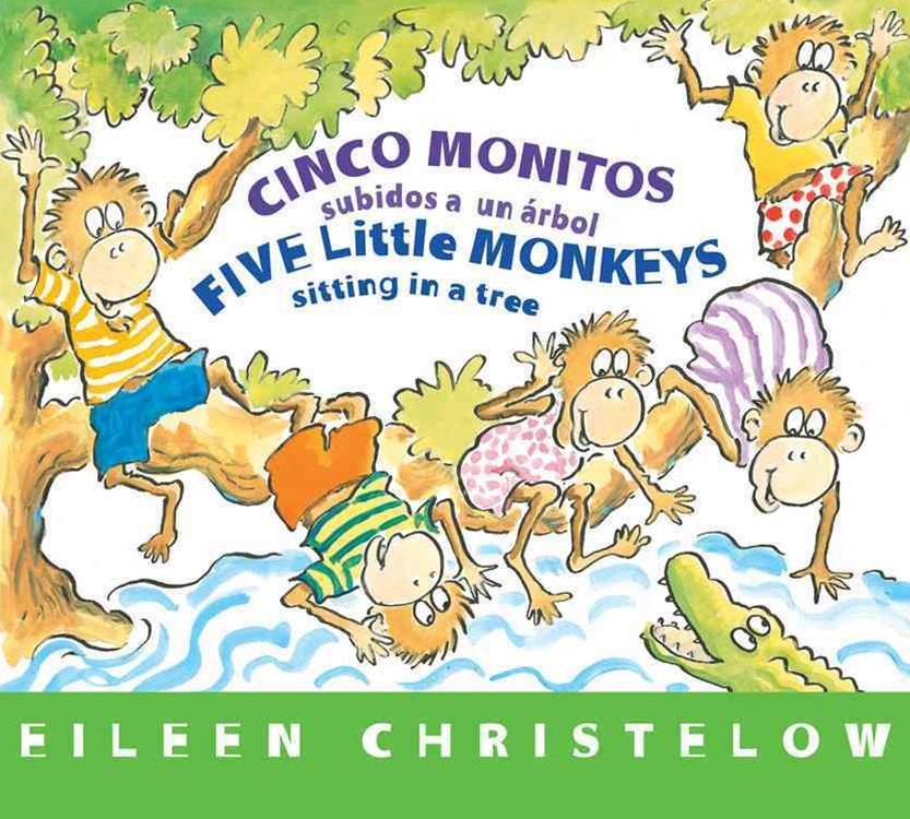 Five Little Monkeys Sitting in a Tree  (Spanish/English)