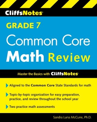 (ebook) CliffsNotes Grade 7 Common Core Math Review