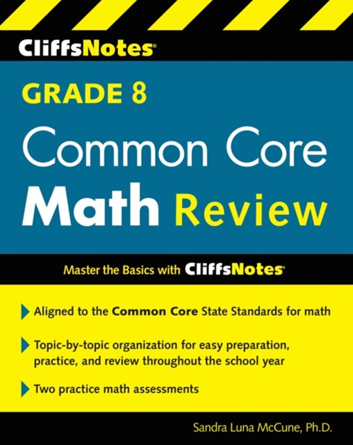 (ebook) CliffsNotes Grade 8 Common Core Math Review