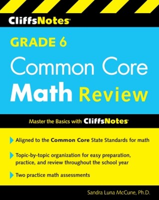 (ebook) CliffsNotes Grade 6 Common Core Math Review