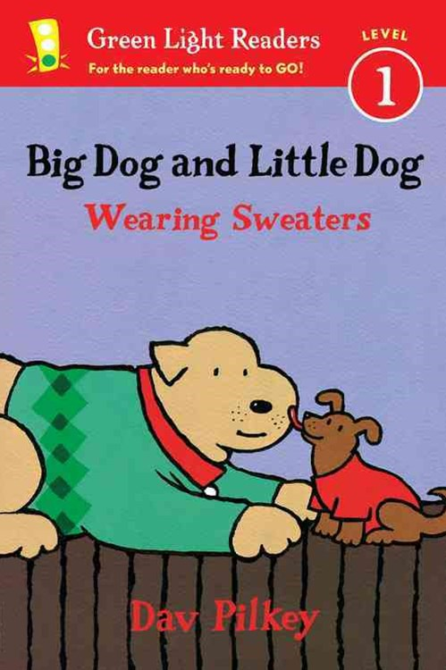Big Dog and Little Dog Wearing Sweaters GLR L1