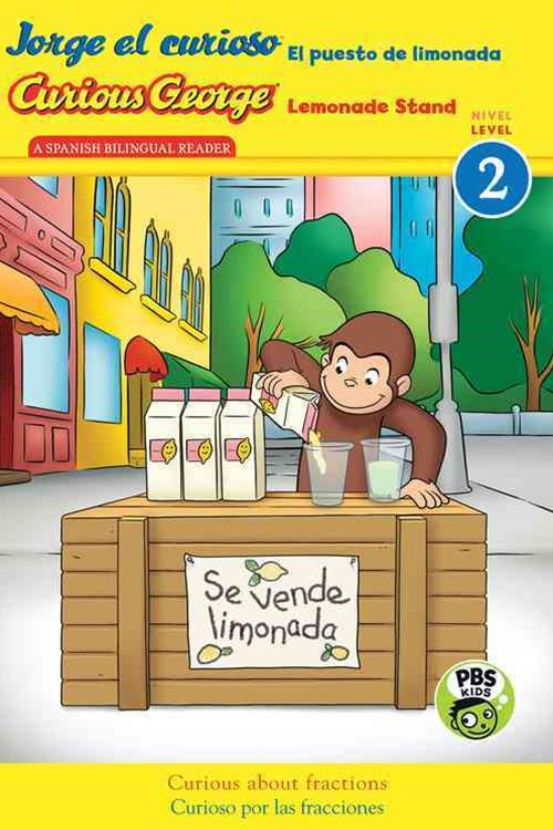 Curious George Jorge el curioso El puesto de limonada (Bilingual)  CGTV Reader, Level 2