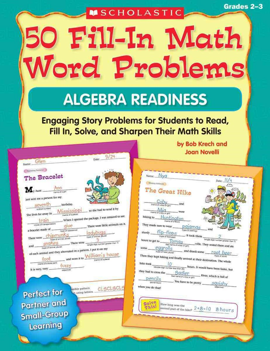 50 Fill-In Math Word Problems - Algebra Readiness