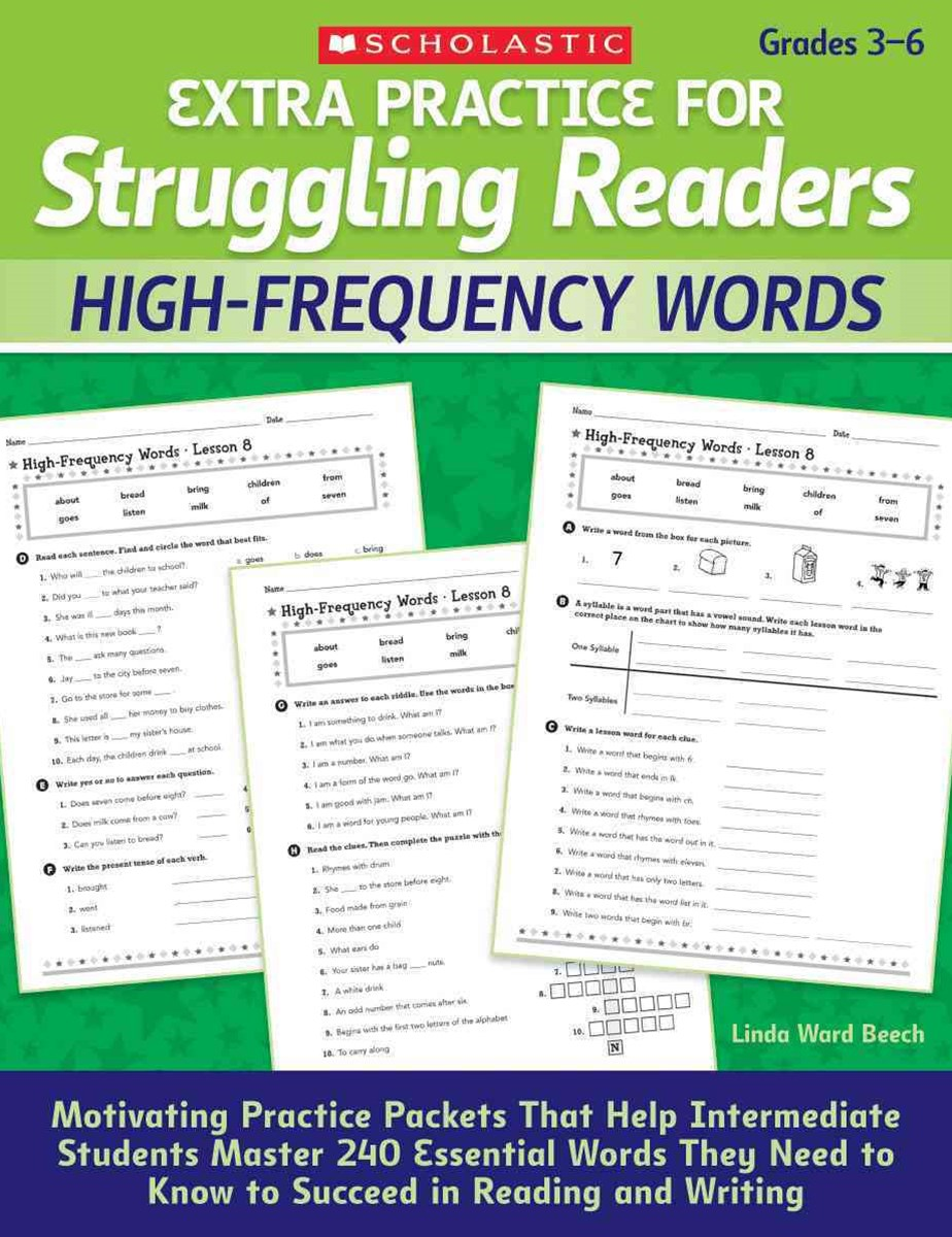 Extra Practice for Struggling Readers: High-Frequency Words