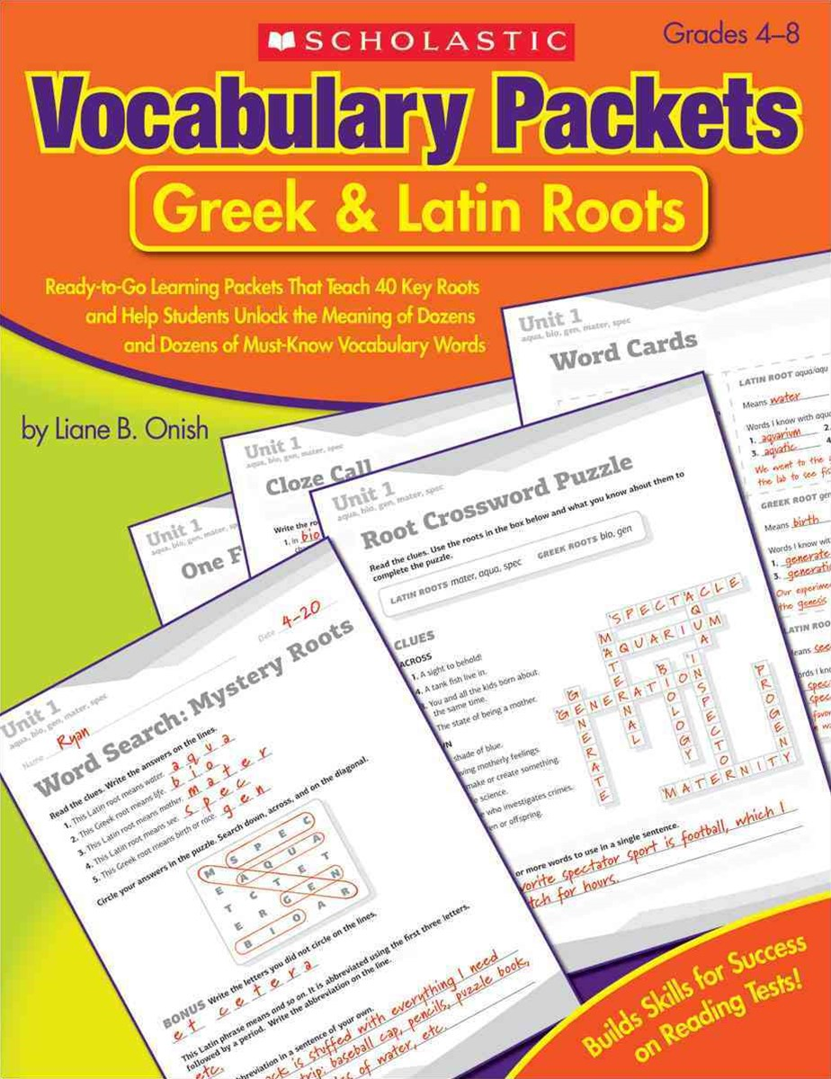 Vocabulary Packets - Greek and Latin Roots