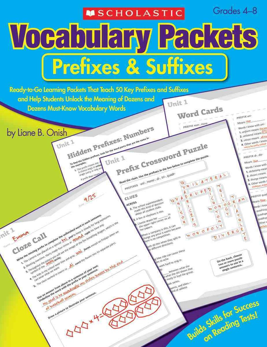 Vocabulary Packets - Prefixes and Suffixes