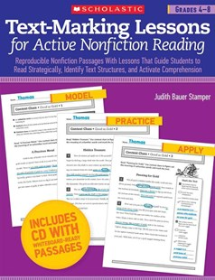 Text-Marking Lessons for Active Nonfiction Reading by Judith Bauer Stamper (9780545288194) - PaperBack - Education Teaching Guides