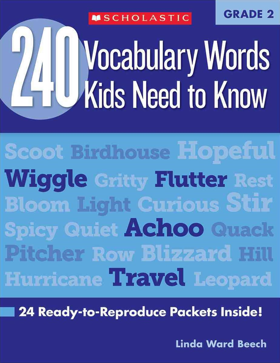 240 Vocabulary Words Kids Need to Know - Grade 2