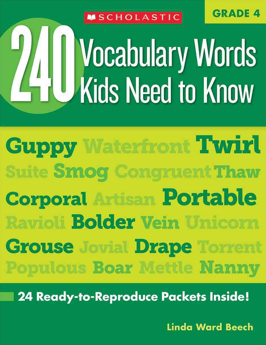 240 Vocabulary Words Kids Need to Know