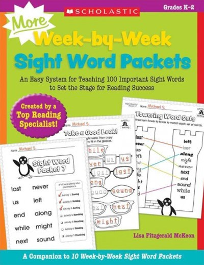 MORE Week-By-Week Sight Word Packets