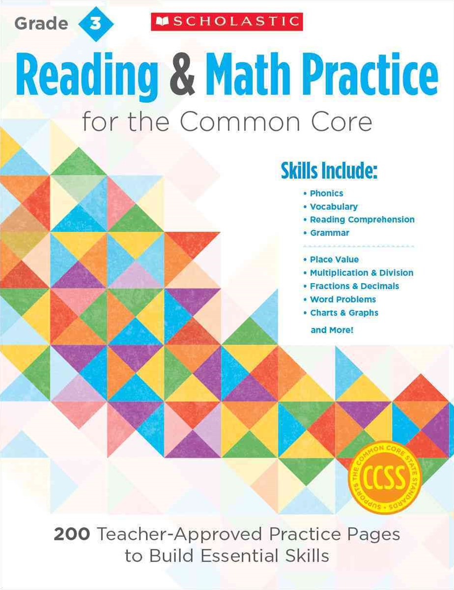 Reading and Math Practice for the Common Core, Grade 3