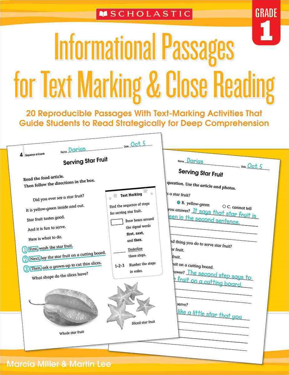 20 Reproducible Passages with Text-Marking Activities That Guide Students to Read Strategically for Deep Comprehension