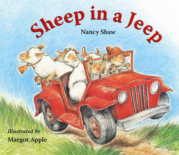Sheep in a Jeep Lap-sized Board Book
