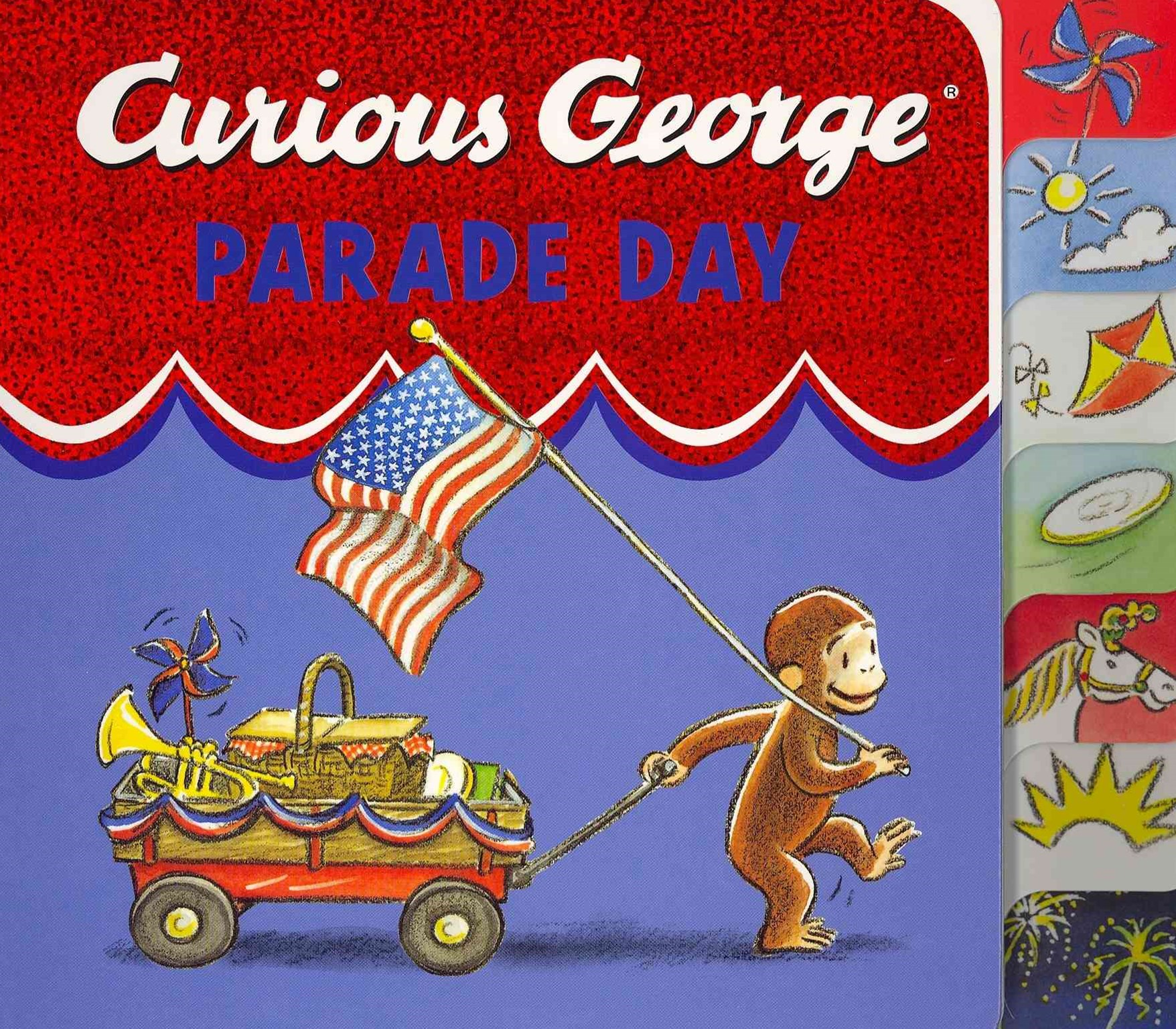 Curious George Parade Day: Tabbed Board Book